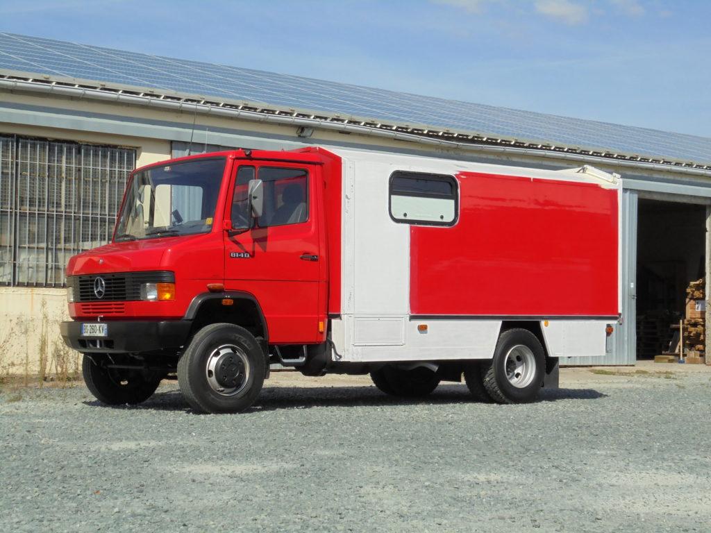 Mercedes 814 T2 4x4 VASP caravane